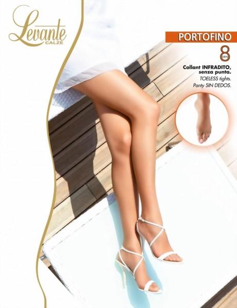 c4a349218 Levante - Sheer mat open toe tights Portofino 8 DEN   9989