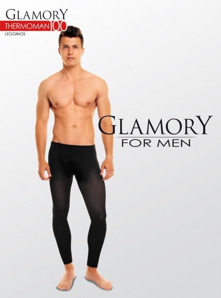 Glamory Thermoman - 100 denier opaque plus size leggings for men