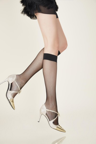 Gerbe Resille - Classic fishnet knee highs