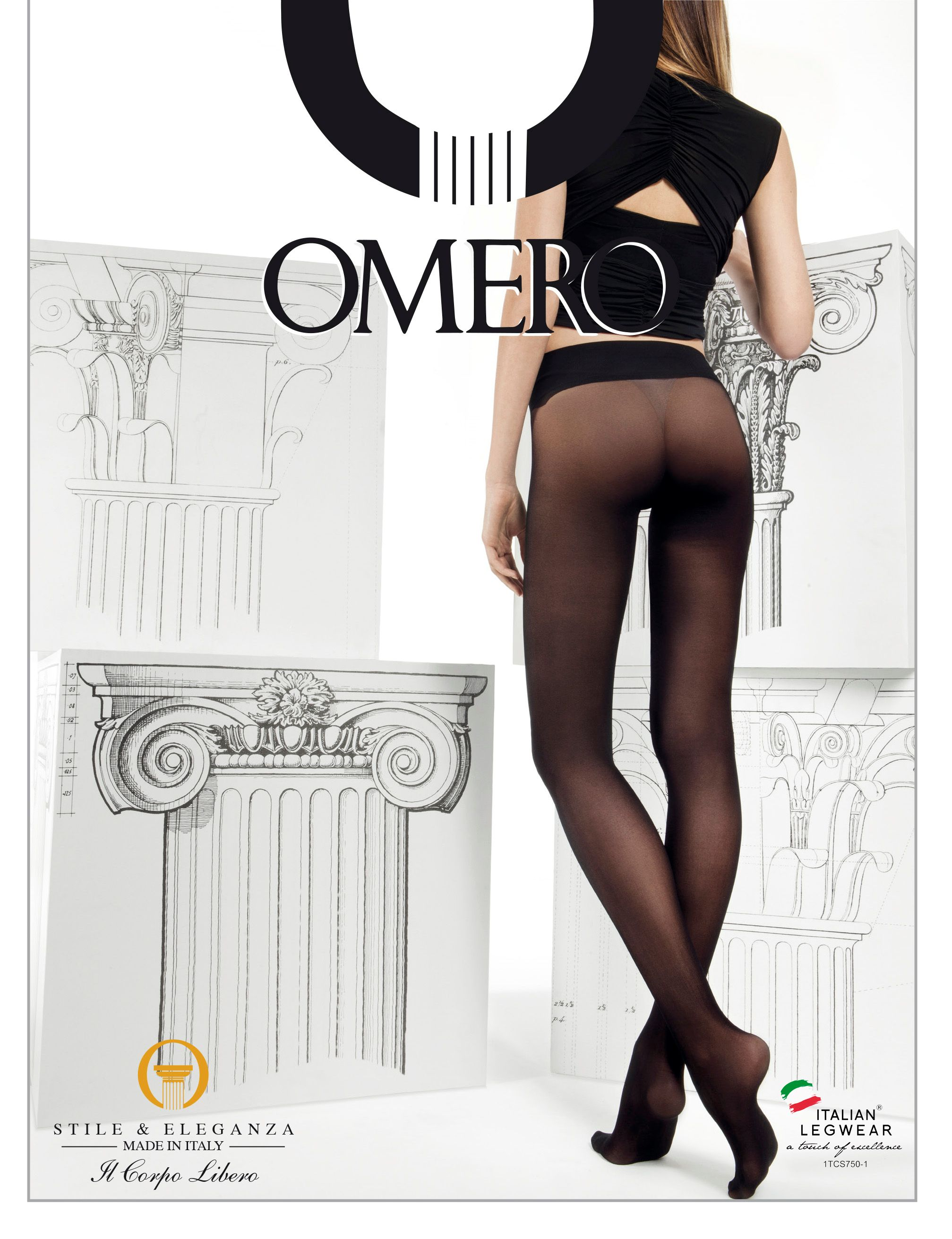 b949a94060dcc Omero Divina - Sheer to waist seamless tights with comfortable waistband &# 9989;