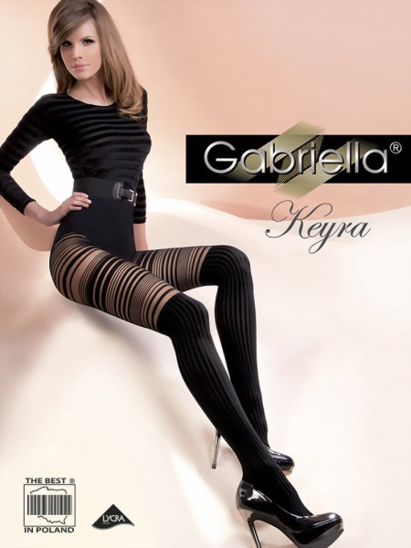 Gabriella - Striped over the knee tights Keyra, 40 den