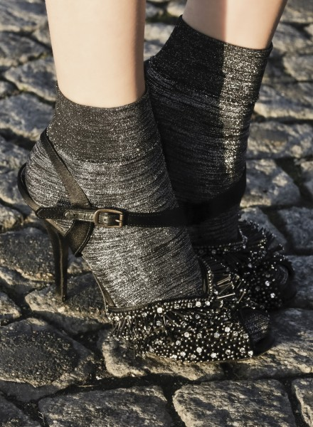 Gaspard Yurkievich and Gerbe - Designer ankle socks with gloss and sparkle effect Incroyable