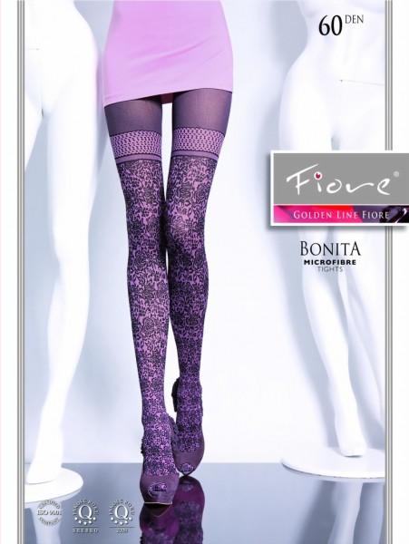 Fiore - Extravagant patterned tights Bonita 60 DEN