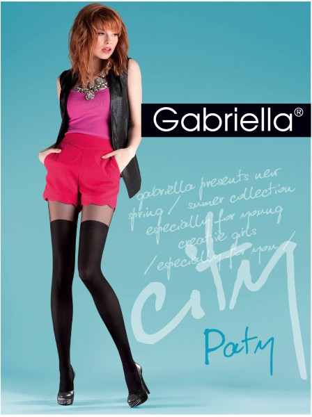 Gabriella - Stylish pattern mock over-the-knee tights Paty