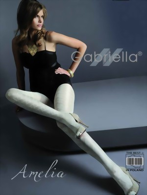 Gabriella - Elegant patterned tights Amelia