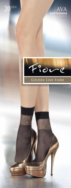 Fiore - Flower pattern socks Ava 20 denier