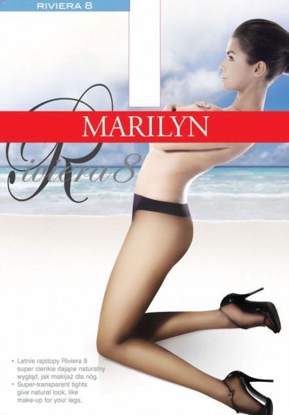 Marilyn - Sheer-to-waist tights Riviera 8 denier