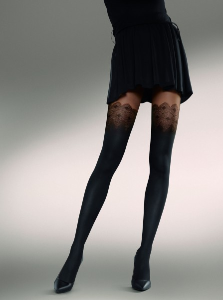 KUNERT Mystical - Stylish mock hold up tights