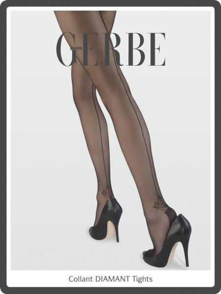 Gerbe - Elegant back seam tights Diamant