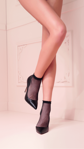Trasparenze - Comfortable fishnet ankle socks Idra