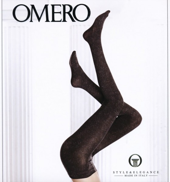 Omero - Opaque tights with gloss effect Brillant