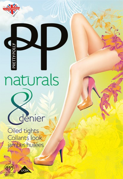 Pretty Polly - Naturals 8 denier oiled tights