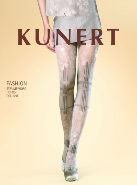 KUNERT - Beautiful check and floral pattern tights