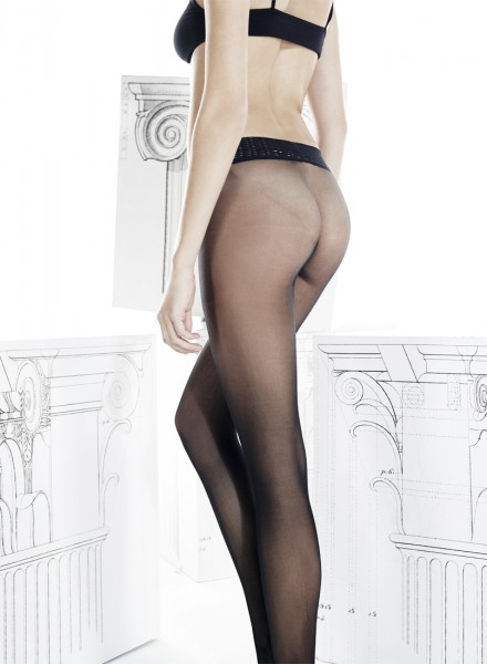 Omero - Sheer to waist seamless tights with decorative waistband Sense