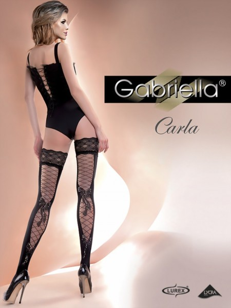 Gabriella - Beautiful sensuous patterned hold ups Carla, 60 DEN