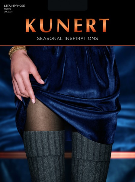 KUNERT Melange Fairytale - Mock over the knee tights with cable pattern