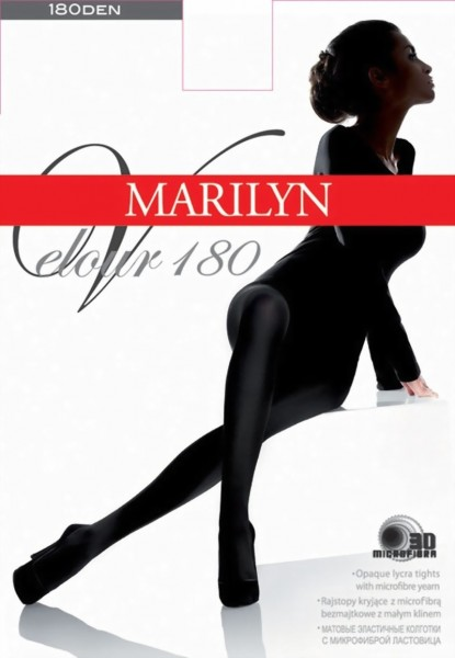 Marilyn - Classic opaque tights Velour 180 den