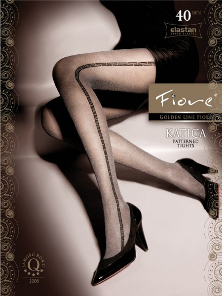 Fiore - Elegant patterned tights Katica 40 denier