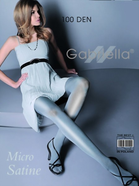 Gabriella - Opaque wet look tights Micro Satin 100 den