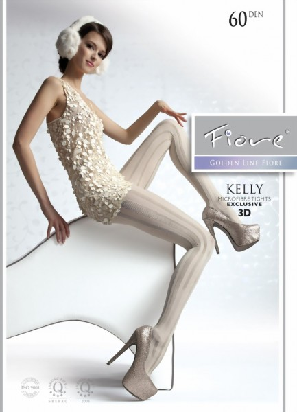 Fiore - Opaque striped tights Kelly 60 DEN