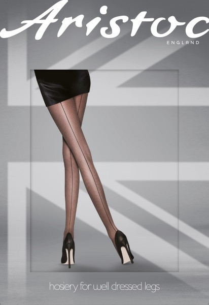 Aristoc - Mock fishnet tights with back seam
