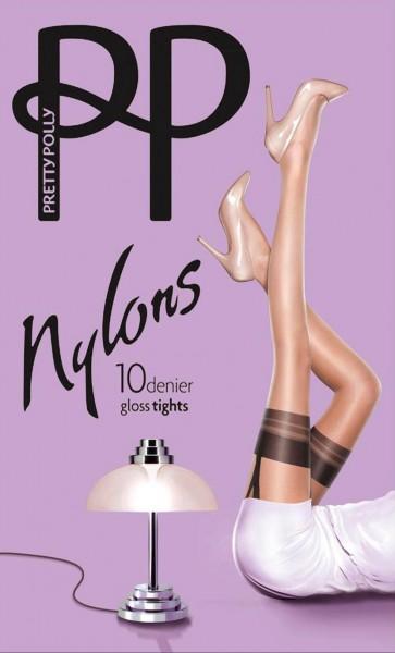 Pretty Polly - Nylons 10 denier gloss mock suspender tights
