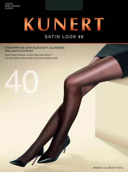 Kunert - Elegant semi-opaque gloss tights Satin Look 40