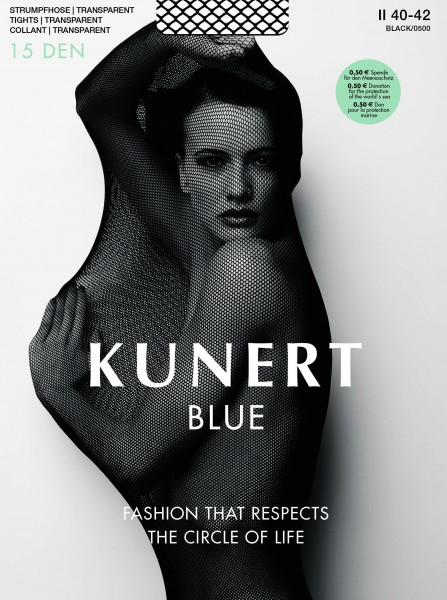 Kunert - Transparent tights made from sustainable materials Blue 30