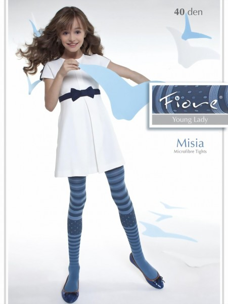 e3a34427d3f8f Fiore - Trendy childrens tights with stripes Misia 40 denier ✅