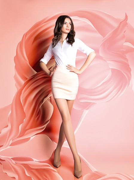 GIULIA - 15 denier classic tights with reinforced pantie and toes