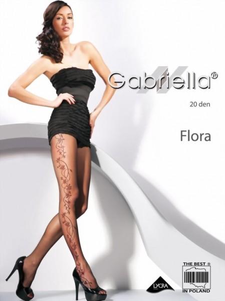 Gabriella - Beatiful floral pattern tights Flora, 20 den