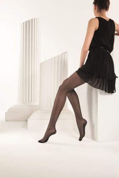 Omero Audrey - Timeless elegant back seam tights with cuban heel