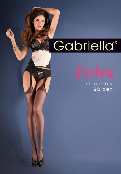 Gabriella Strip Panty - Sensuous suspender tights