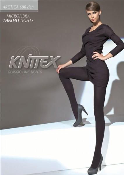 Knittex - Opaque winter tights Arctica 600 denier