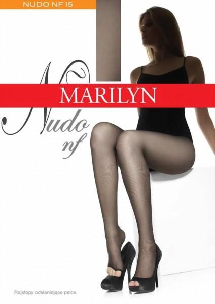 Marilyn - Open toe tights Nudo 15 denier