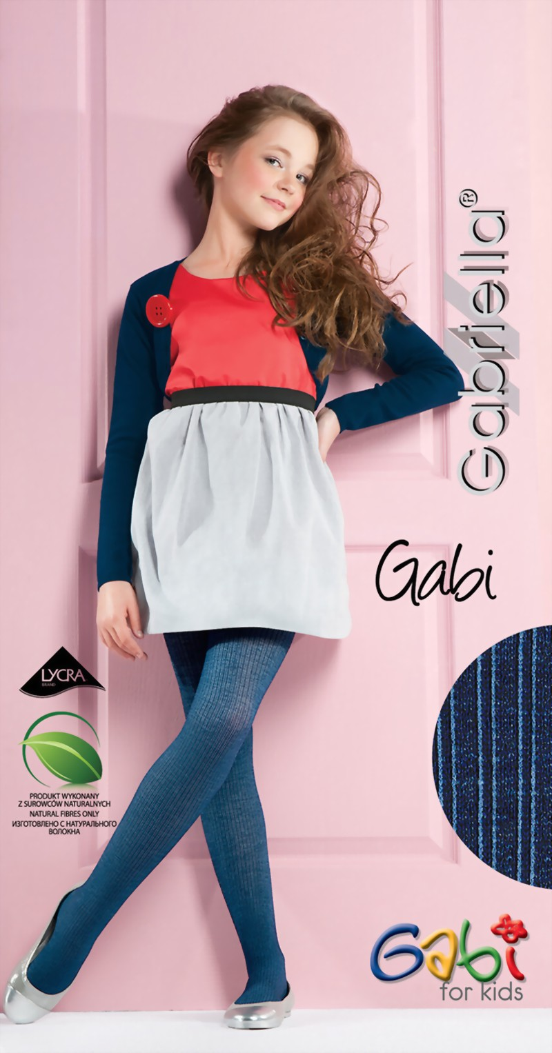 45a3a3edf8cee Gabriella - Opaque ribbed childrens tights Gabi ✅