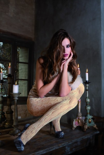 Trasparenze - Elegant patterned winter tights Russia