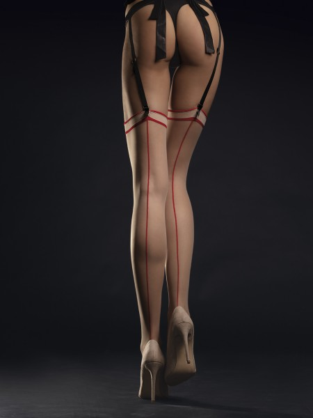 Fiore Madame - Back seam stockings with a close fitting flat top