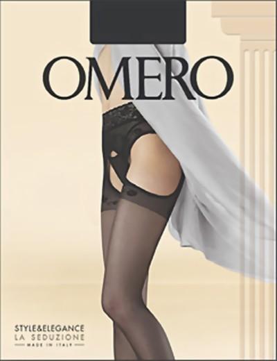 Omero - Transparent strip panty with lace top Capriccio 20 DEN