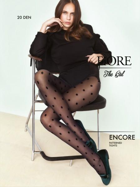 Fiore Encore - 20 denier tights with classic spot pattern