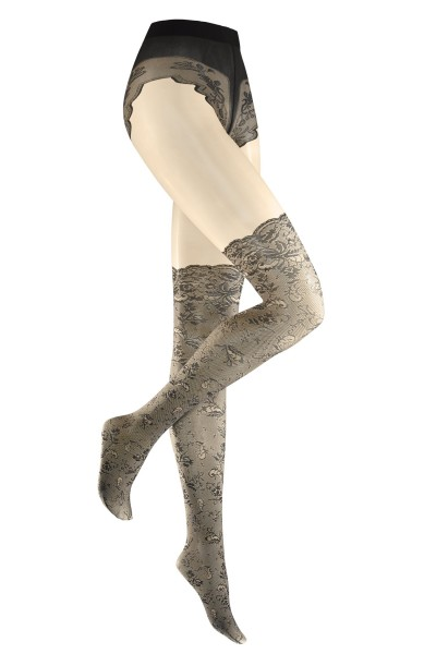 Designer mock over the knee tights - Anja Gockel for KUNERT
