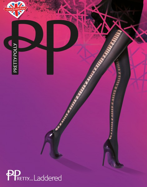 Pretty Polly - PPretty ... Laddered Lace Up Effect Tights