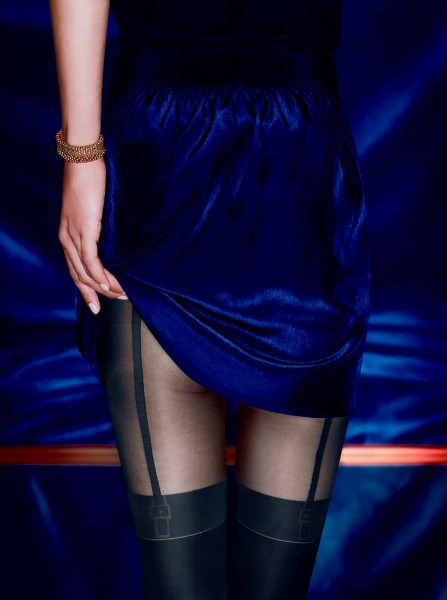 KUNERT Feminine Seduction - Semi-opaque mock suspender tights