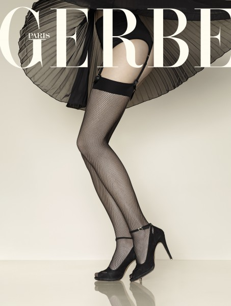 Gerbe - Elegant and classic fishnet stockings Resille