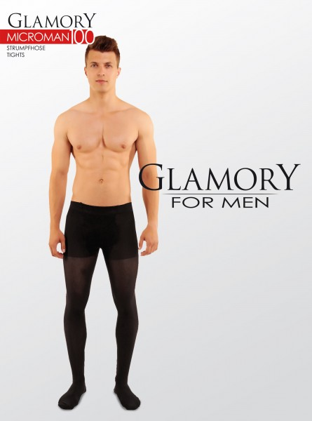 Glamory Microman - 100 denier opaque microfiber tights for men