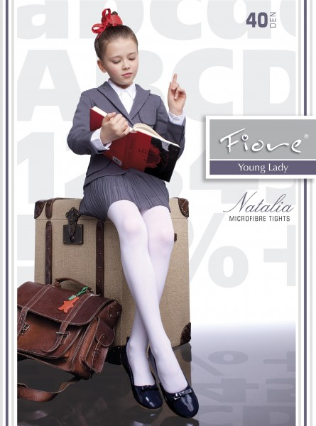 Fiore - Classic microfiber childrens tights Natalia 40 denier
