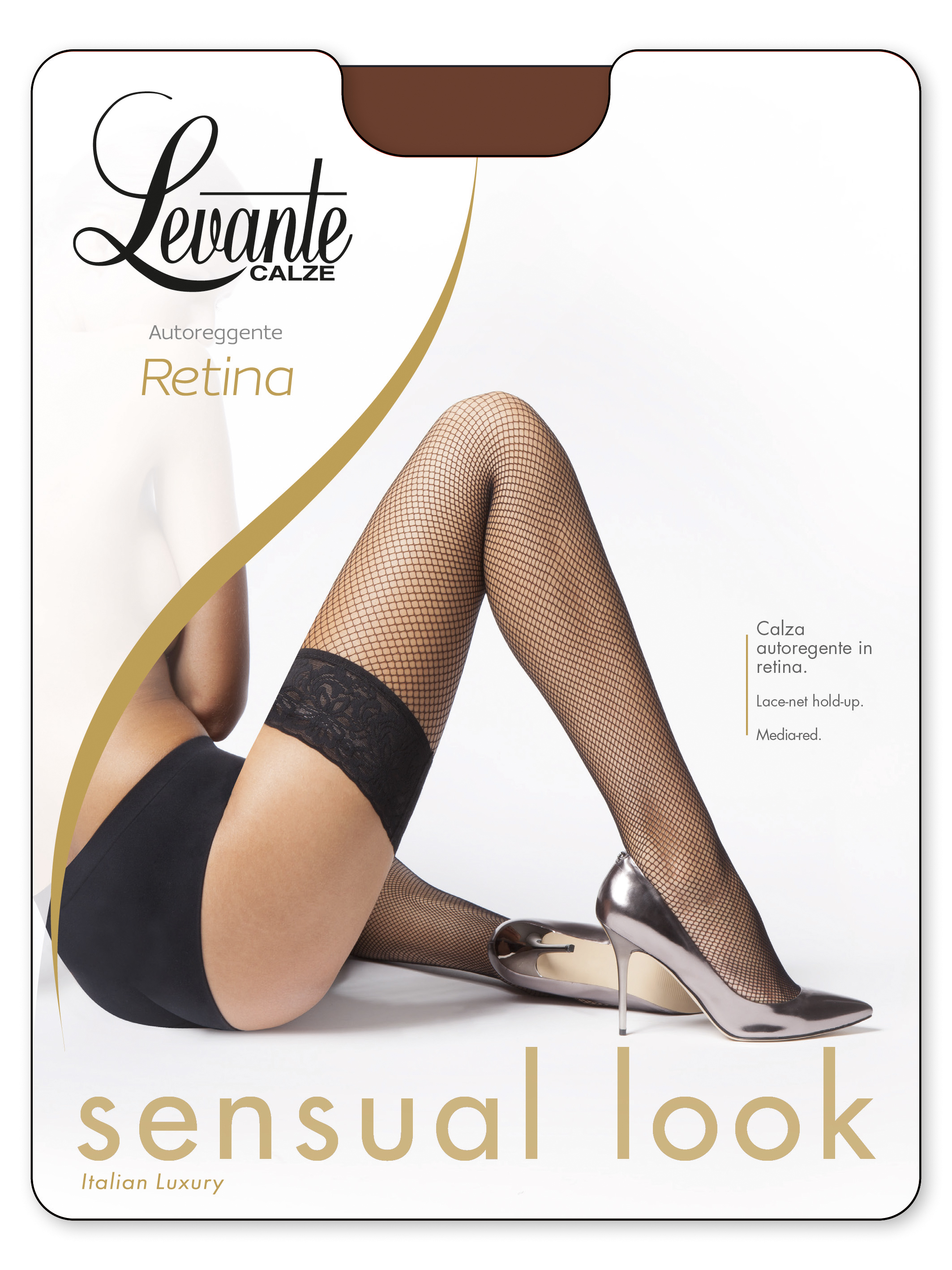 68eaf5fe96f Levante Retina 20 - Fishnet hold ups with floral pattern lace top   9989