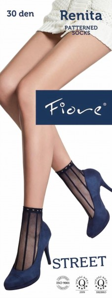 Fiore - Fishnet patterned socks Renita 30 denier