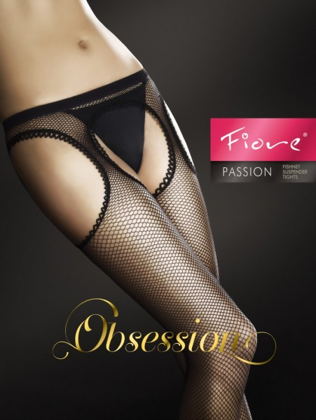 Fiore - Fishnet suspender tights Passion