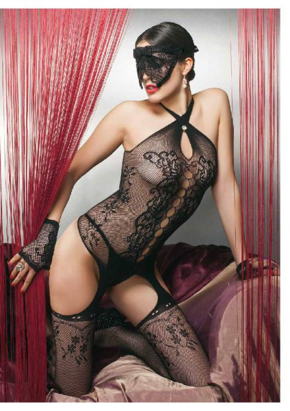 Trasparenze Demetra - Fishnet Bodystocking with sophisticated cut outs